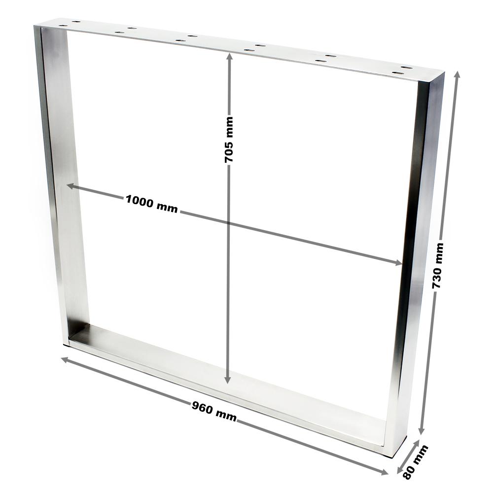 Tischgestell 100x73cm Edelstahl Tischuntergestell