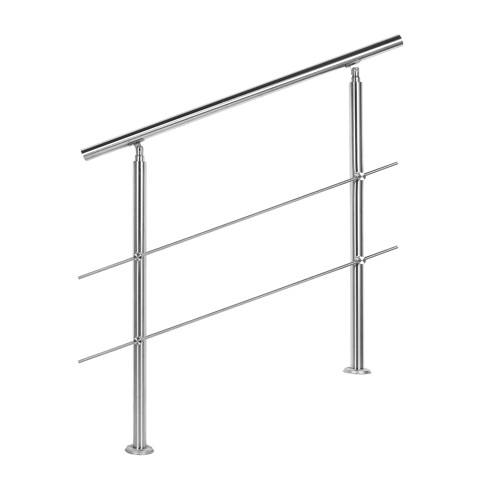 rampe d escalier acier inoxydable 2 tiges 100cm balustrade main courante ebay. Black Bedroom Furniture Sets. Home Design Ideas