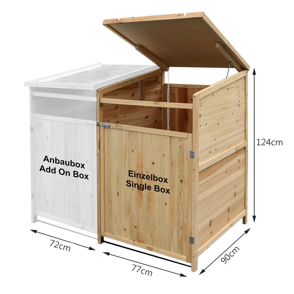 m lltonnenbox holz 240 l gartenbox m lltonnenverkleidung m lltonne ebay. Black Bedroom Furniture Sets. Home Design Ideas