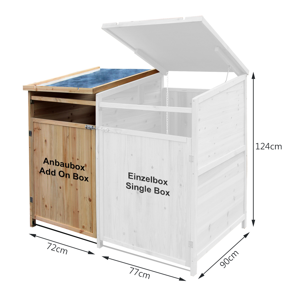 m lltonnenbox anbaubox holz 240 l gartenbox m lltonnenverkleidung m lltonne ebay. Black Bedroom Furniture Sets. Home Design Ideas