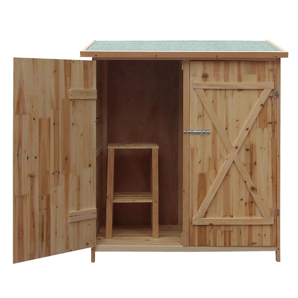 details sur abri de jardin bois xxl remise cabane pour outils armoire stockage rangement