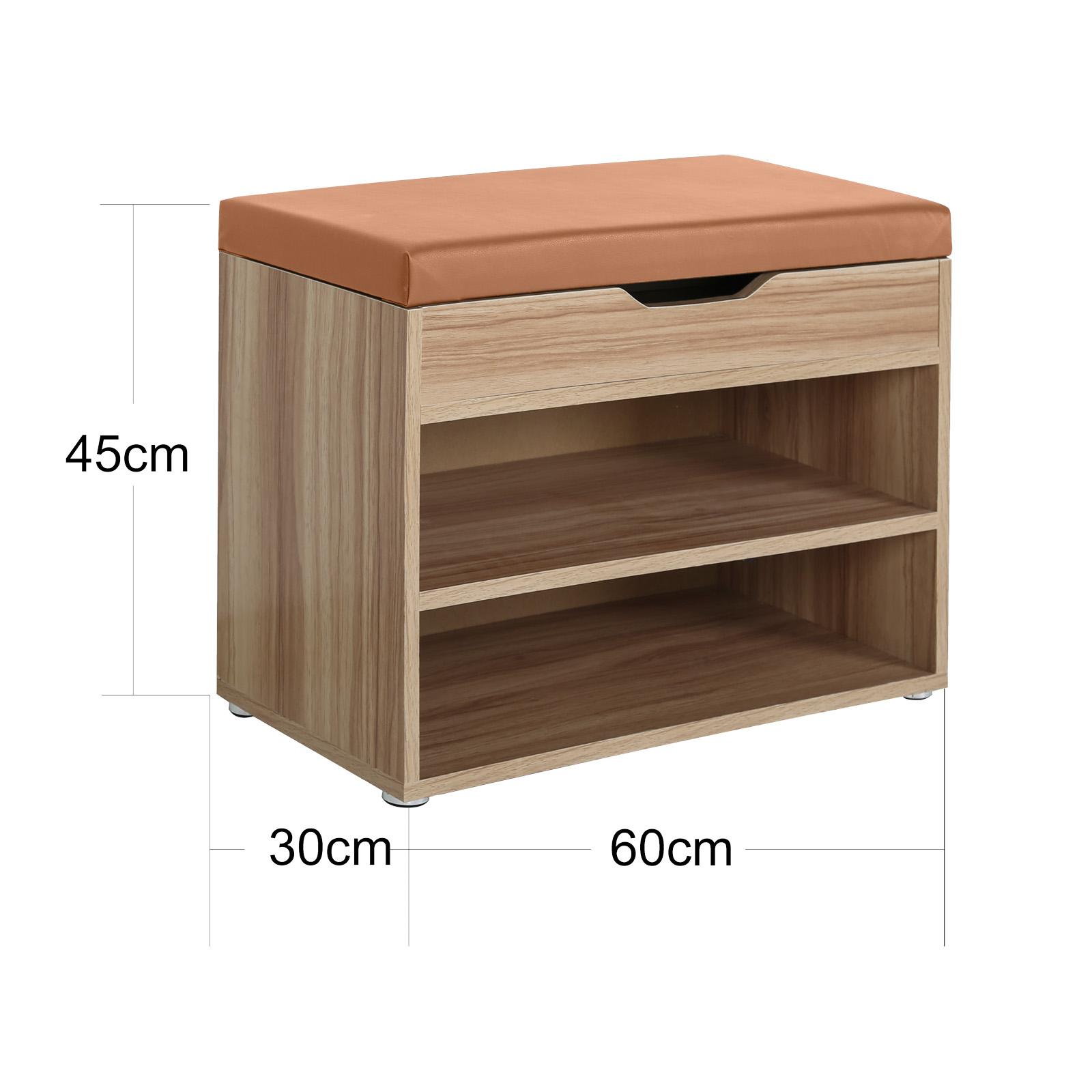 schuhbank schuhschrank schuhablage sitzbank regal deckel 6 paar schuhe eiche ebay. Black Bedroom Furniture Sets. Home Design Ideas