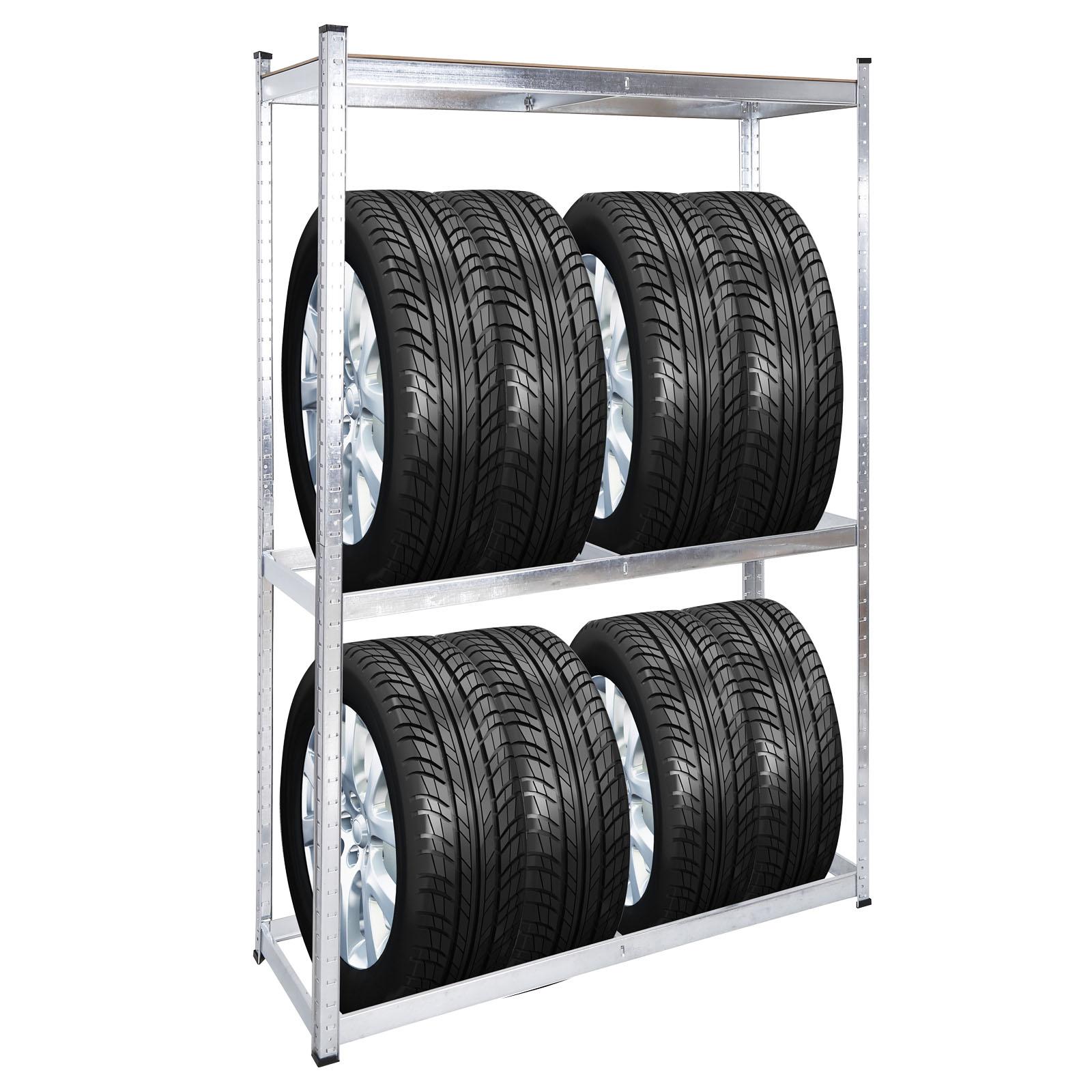 für 16 Reifen Felgenbaum Reifenständer SET 2x Reifenregal Werkstattregal