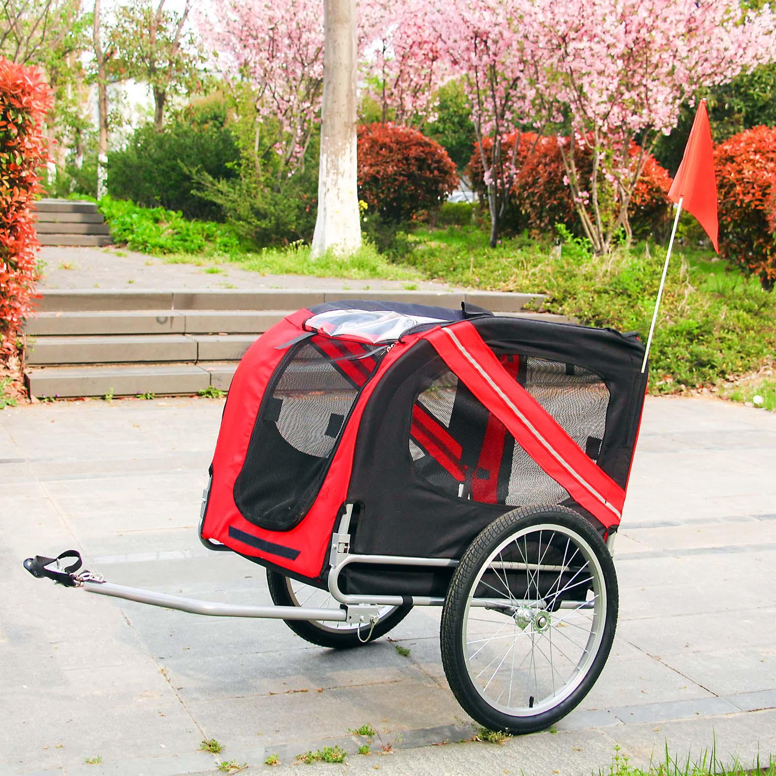 hund fahrradanh nger hundeanh nger anh nger hundetransporter fahrrad anh nger ebay. Black Bedroom Furniture Sets. Home Design Ideas