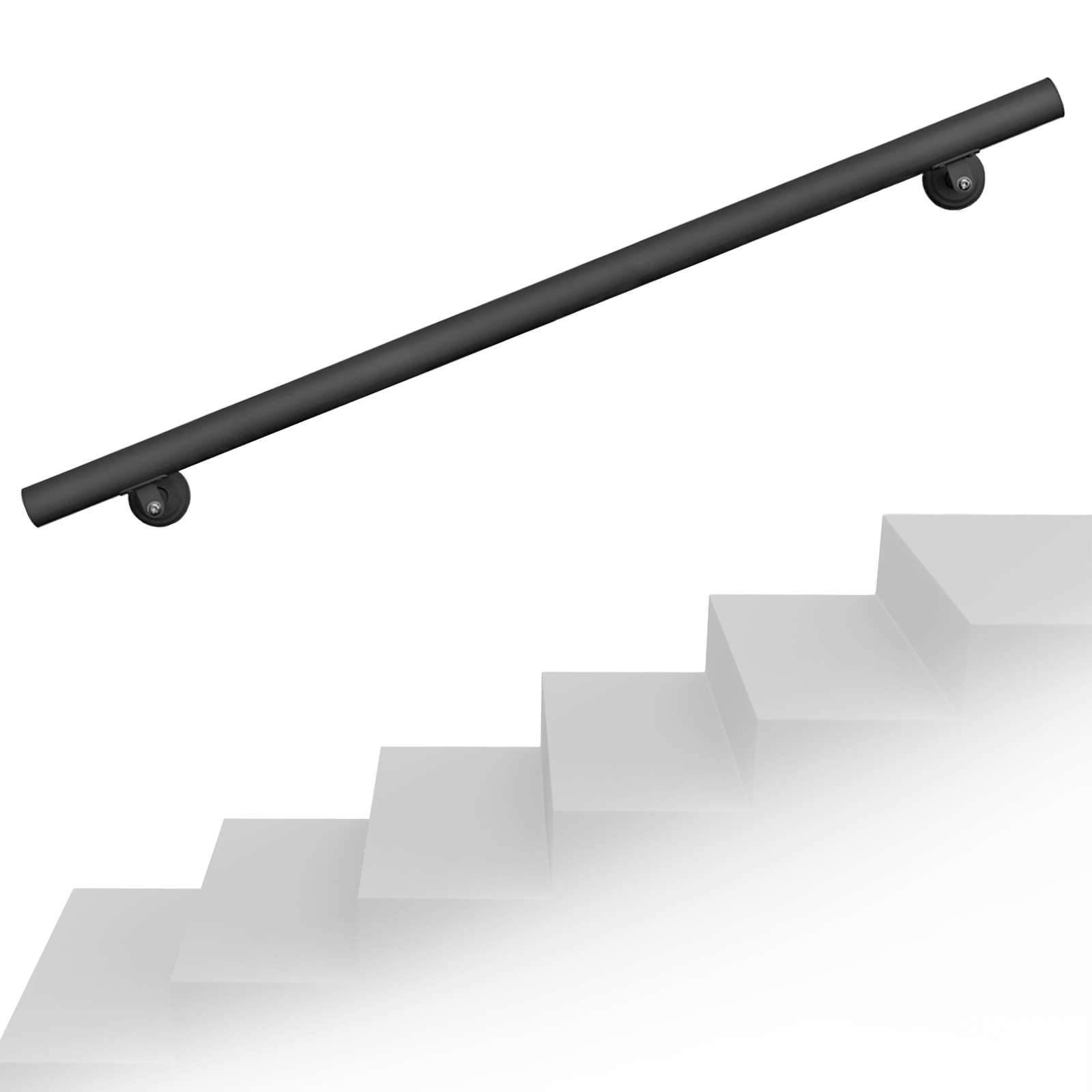 1pc Support Main Courante Balustrade Support Mural D/'escalier Bannister Argent