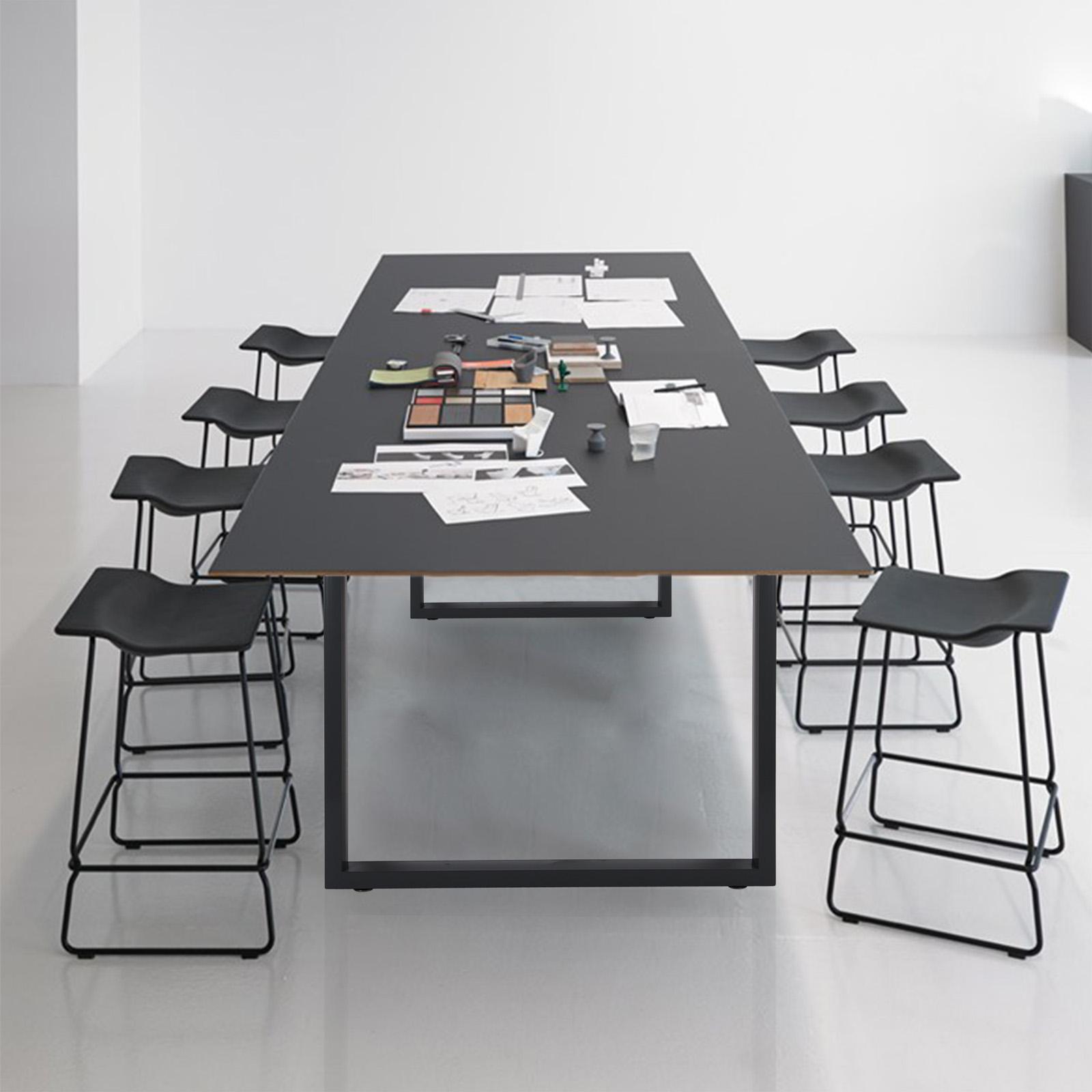 Pieds de table 12x12cm Noir Revêtement par poudre Support ...
