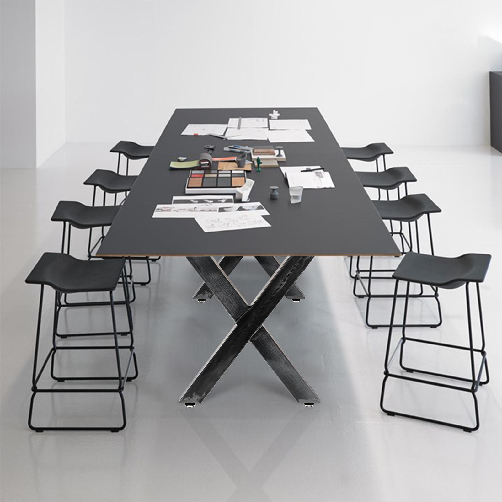 Pieds de table en Profil carré 12x12cm Acier vernis Revêtement ...