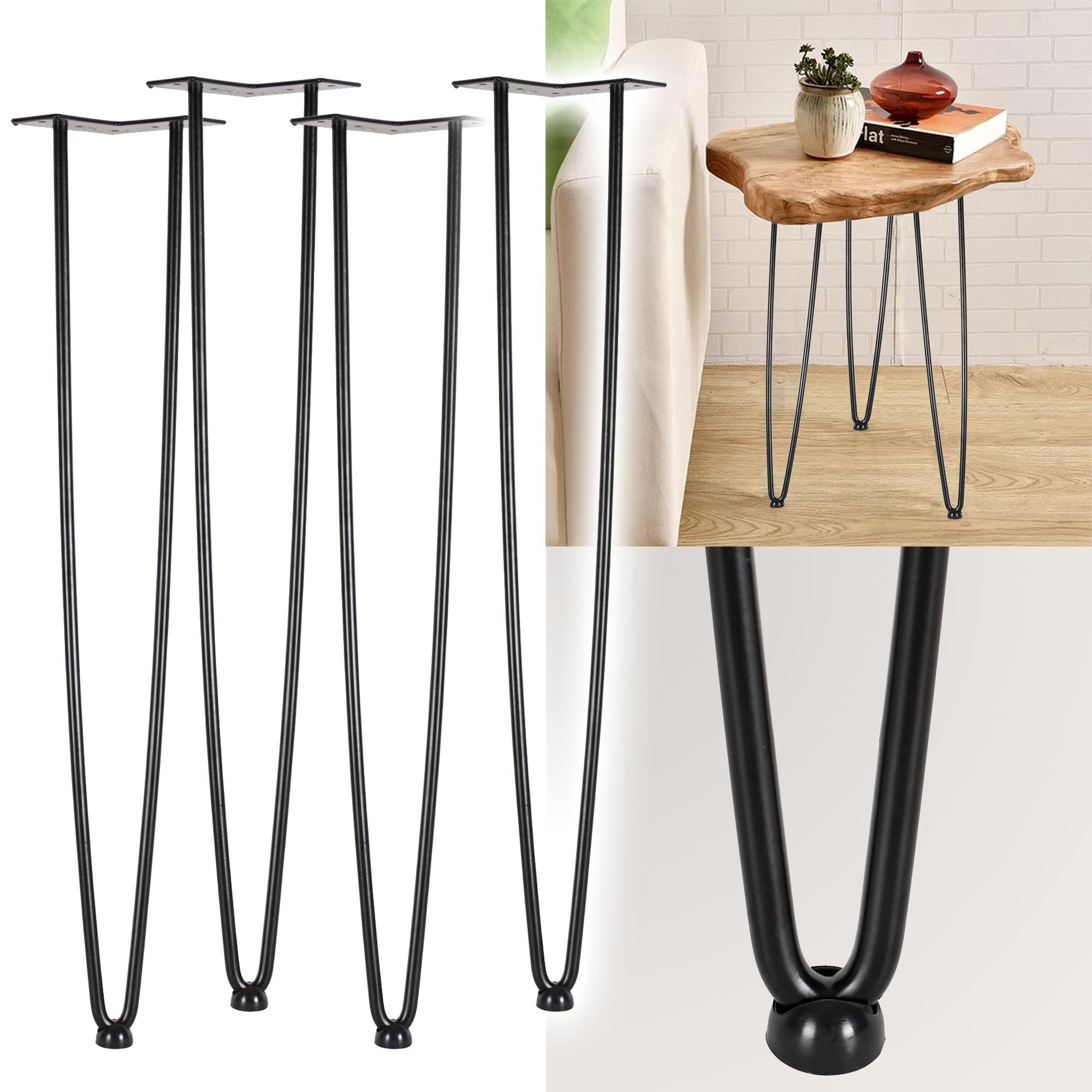 Details zu Jeu 12 Pieds de table épingle à cheveux Hairpin Legs Tige 12cm  Support de meuble