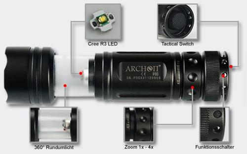 Archon Tauchlampe P30