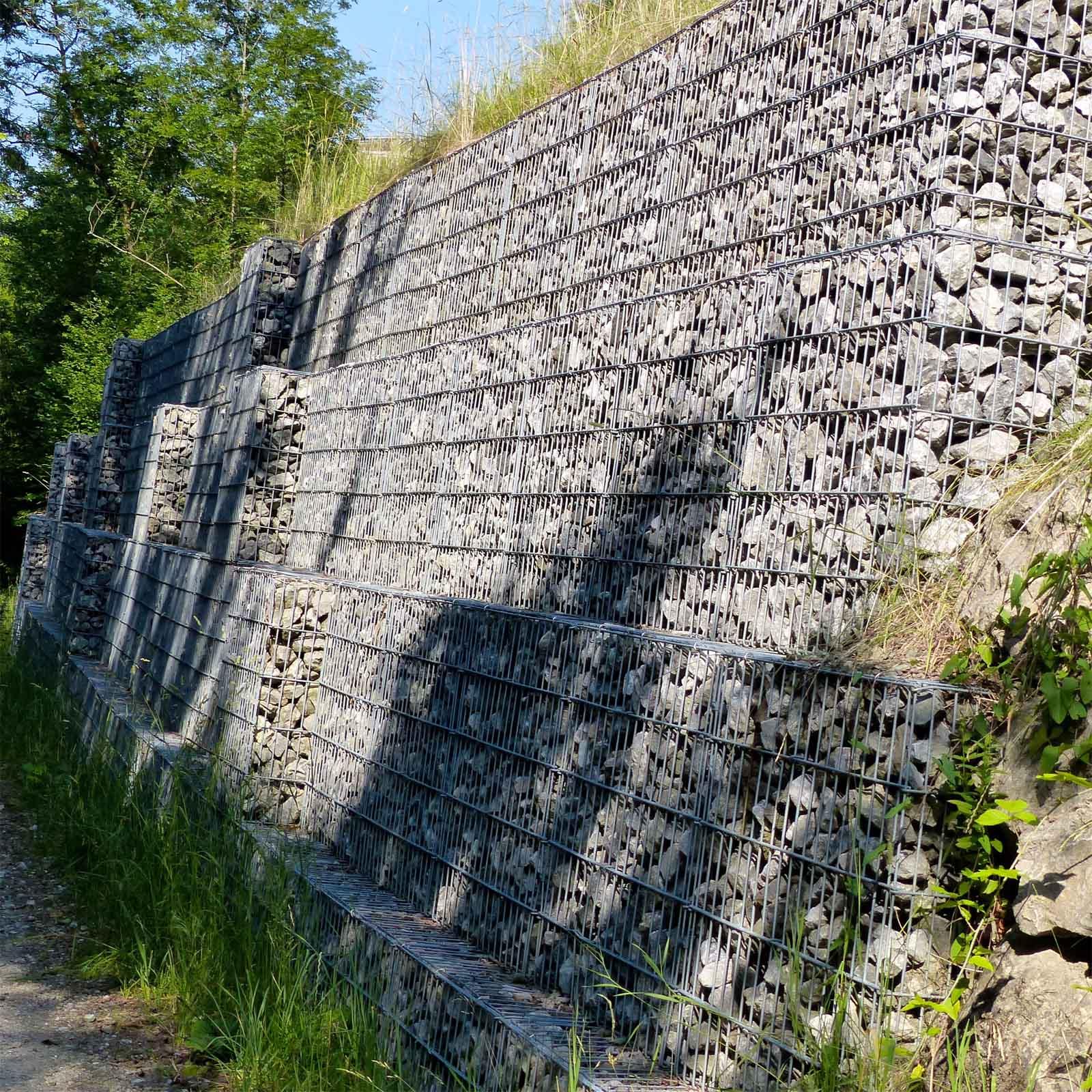 Clôtures décoratives Gabion 100x30x30cm Mur en pierre Paroi ...