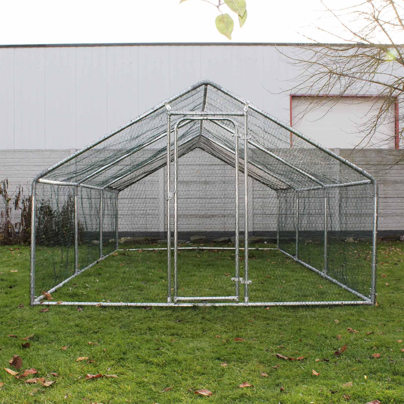 enclos ext rieur voli re poulailler petite cage pour animaux 4x3x2m auvent ebay. Black Bedroom Furniture Sets. Home Design Ideas
