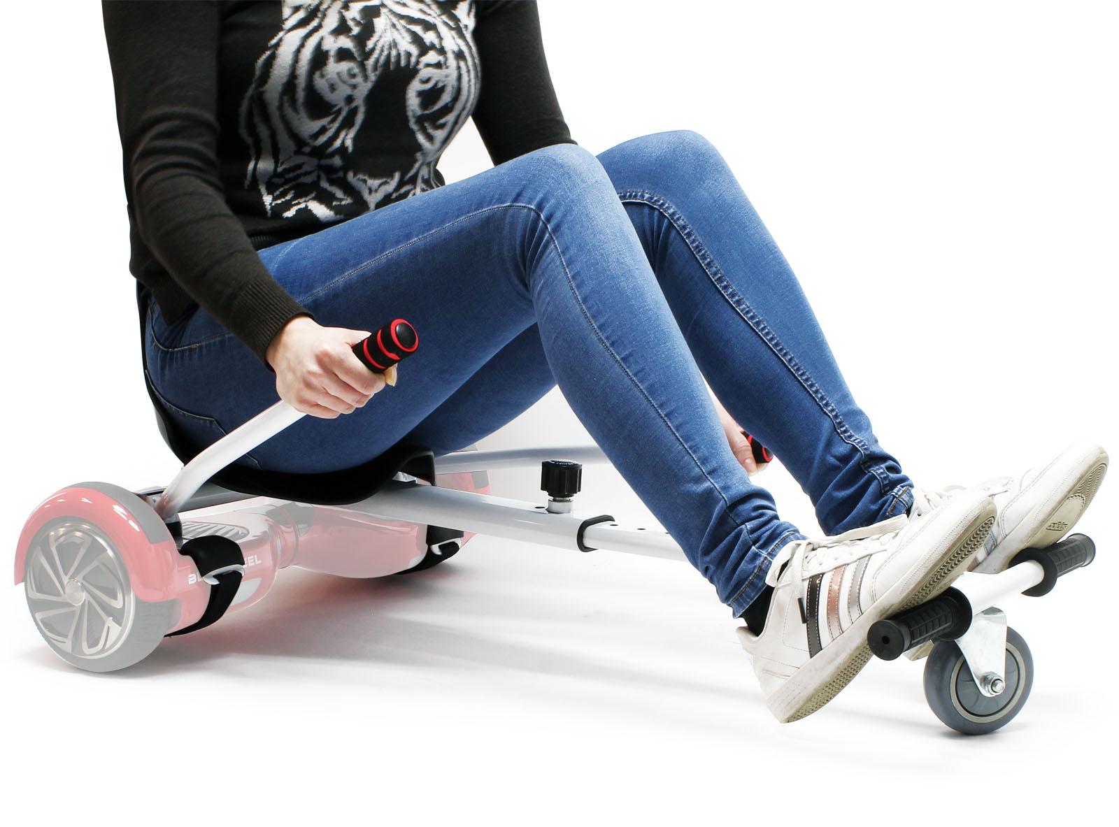 Sitzscooter Blau Elektrokart Kartsitz kompatibel mit Hoverboard Elektroscooter