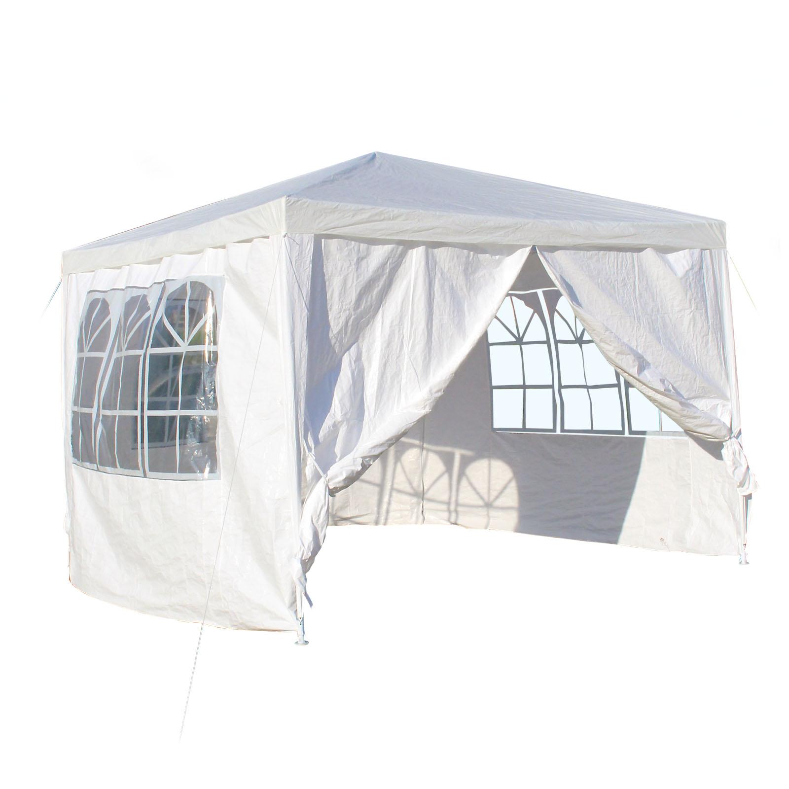 TTGazebo rimovibile pieghevole 3x3m bianco tenda tendone per esterno giardino