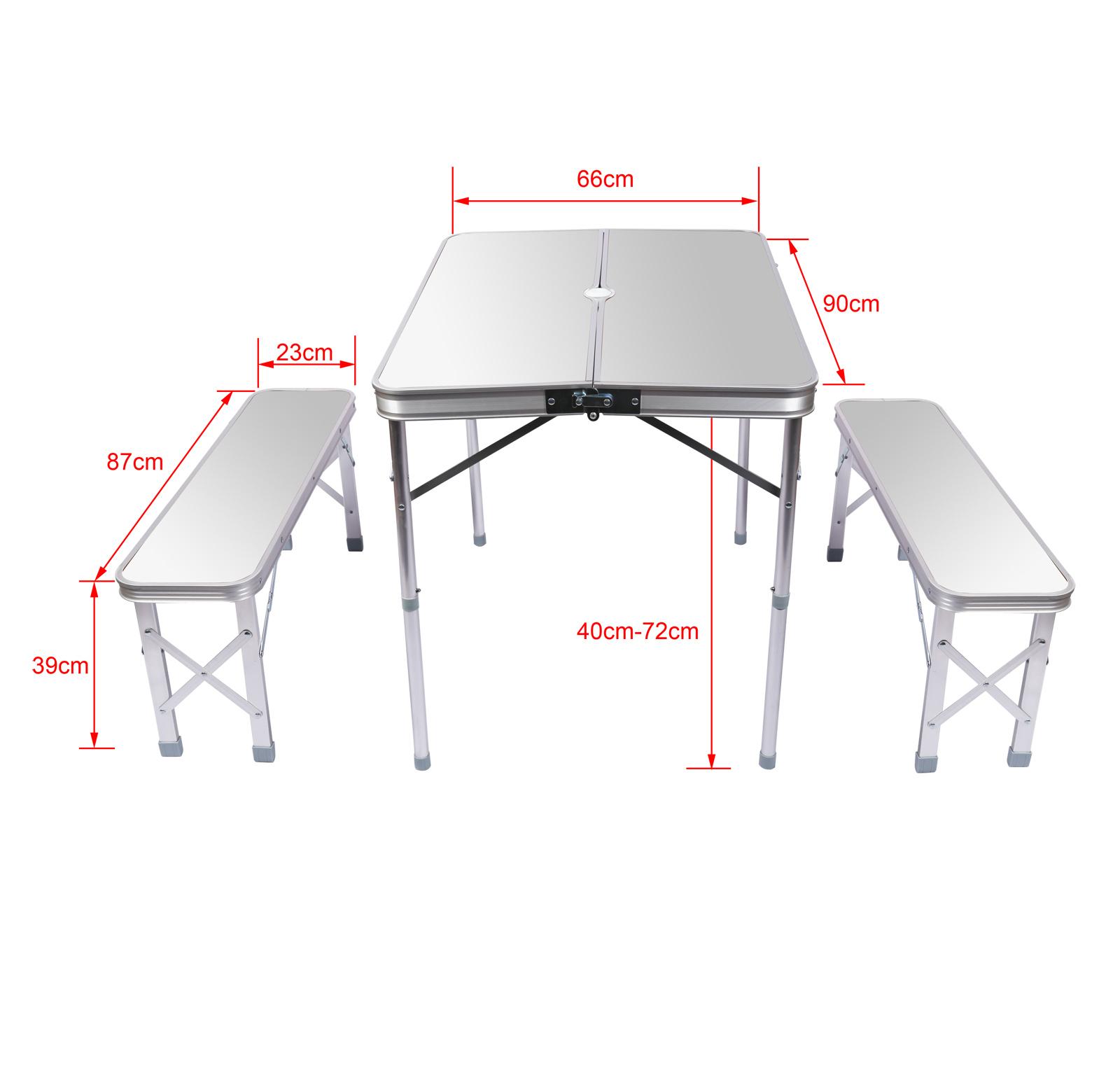Table pliante Valise Alu 12 Bancs Table de camping Couleur argent ...