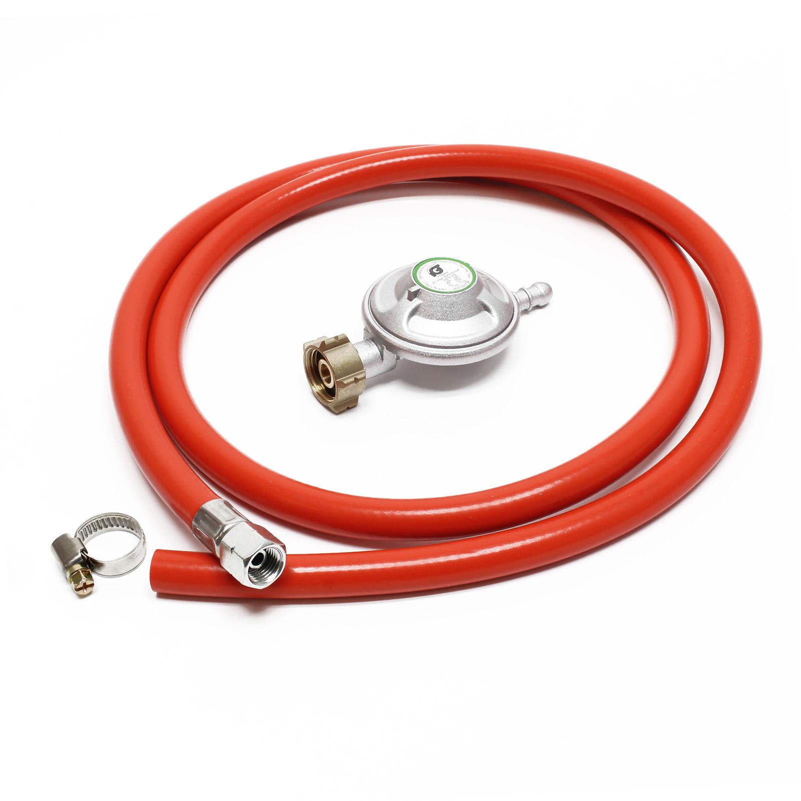 10.63€//m Gasschlauch 1,5 m Druckregler 37 mbar Druckminderer Gas Frankreich Gasd