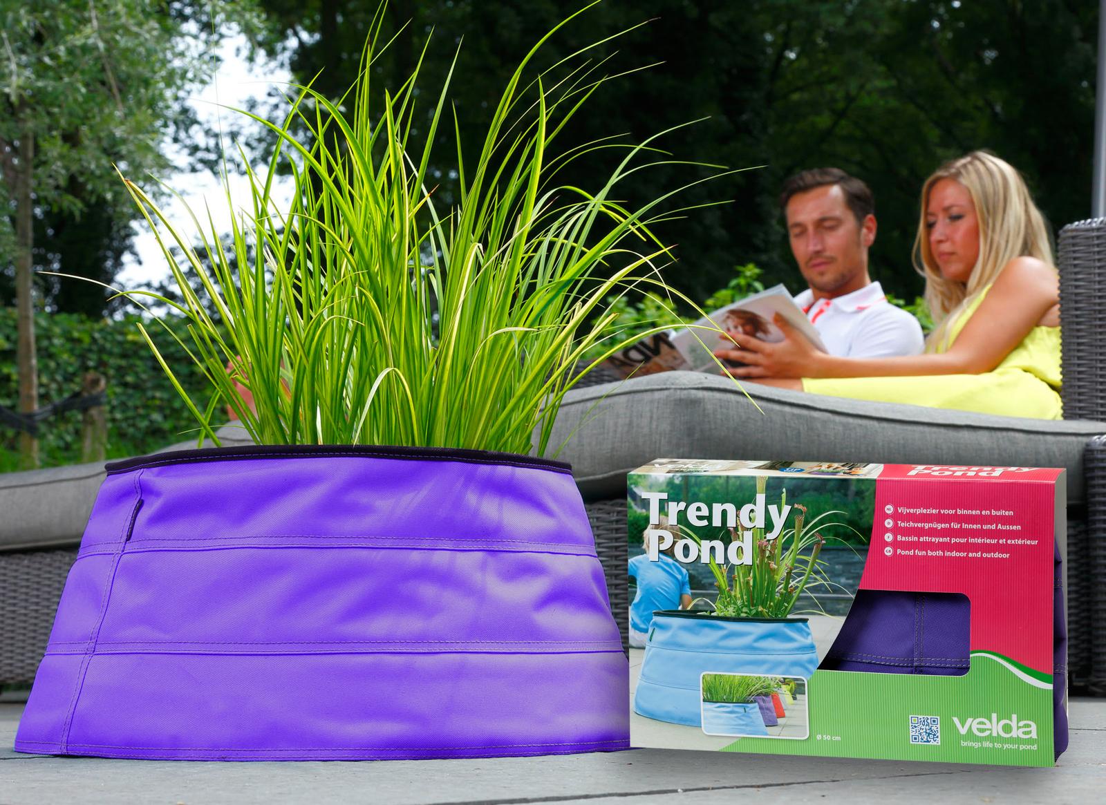 tttrendy pond outdoor purple 50 cm 25 l terassenteich balkonteich miniteich teic. Black Bedroom Furniture Sets. Home Design Ideas