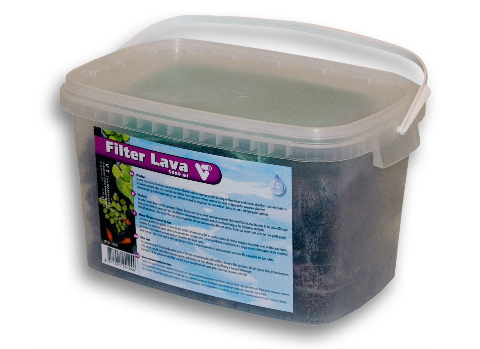 Velda vt pond filter lava bucket with 5000ml for Pond water purifier