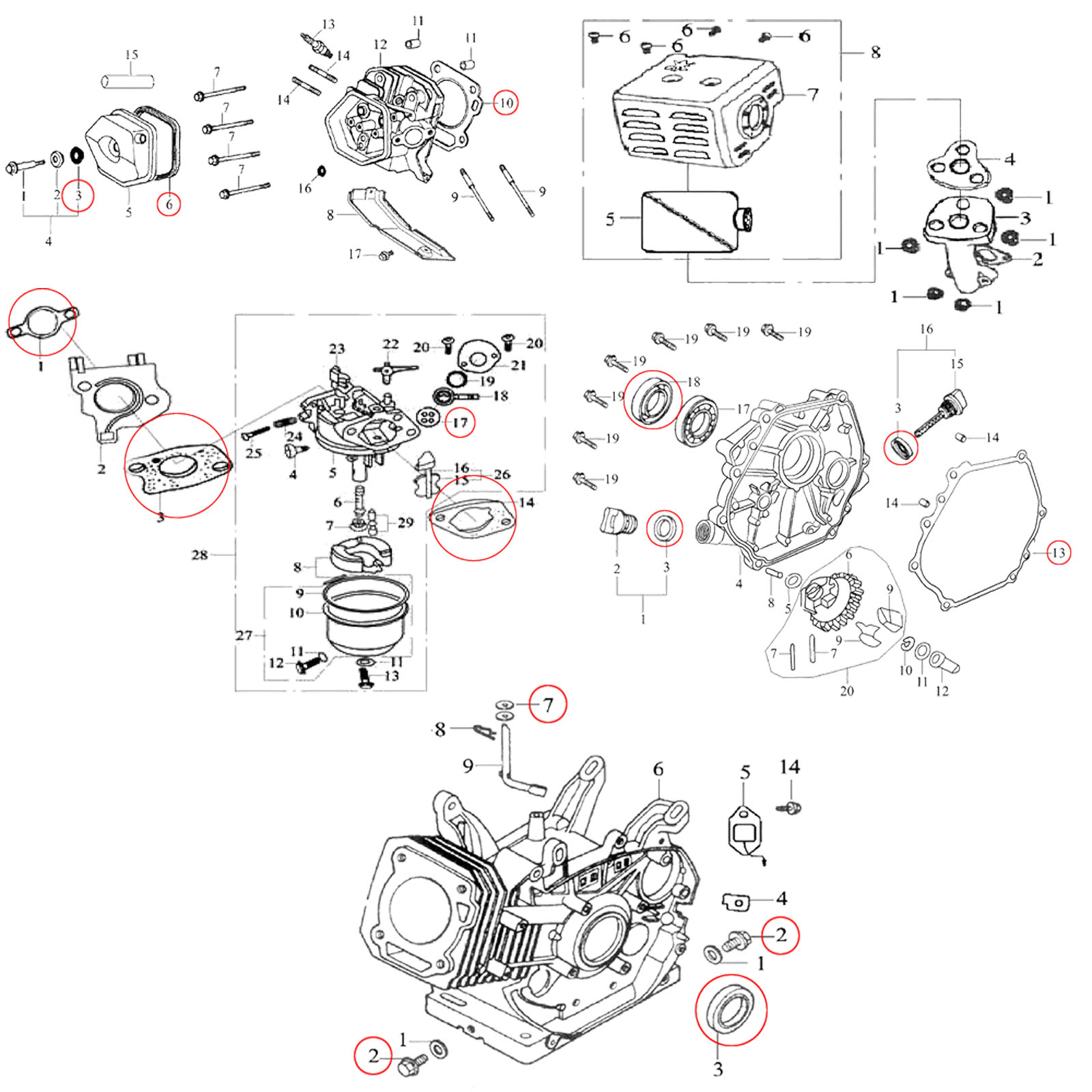 Gasoline Engine Cylinder Head Diagram on lifan engine wiring diagram