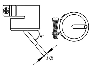 Bent Single Air Nozzle / Heißluftdüse