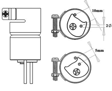 Dual Single Adjustable Air Nozzle / Heißluftdüse