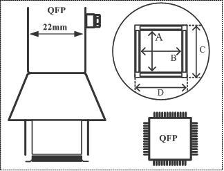 Quad Flat Pack (QFP) Air Nozzle / Heißluftdüse
