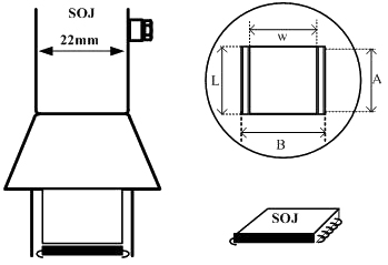 Small Outline J Lead (SOJ) Air Nozzle / Heißluftdüse