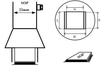 Small Outline Package (SOP) Air Nozzle / Heißluftdüse