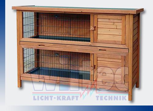 2-Tiere-Nagerhaus-Hasen-Kaninchenstall-Kleintierhaus-Hasenhaus-aus-Holz